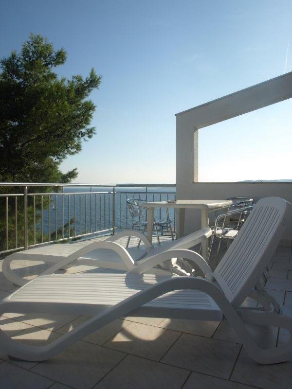 A8(2+2): terrace - 5366 A8(2+2) - Baska Voda - Baska Voda - rentals