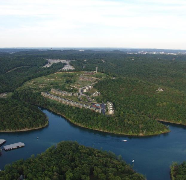Aerial View of Resort & Table Rock Lake! - Indoor Pool!  Nice Condo on Table Rock & near SDC! - Branson - rentals