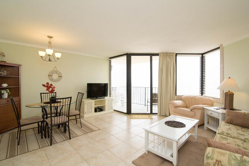 Living Room - Sunbird Condos - Gulf Front 8th Floor Amazing View - Panama City Beach - rentals