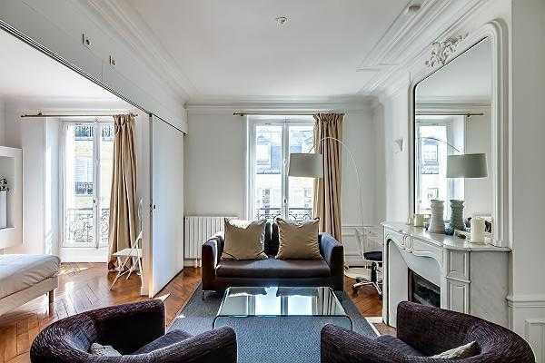 Living Room - Wonderful Vacation Rental at Rennes in Saint Germain (FREE TRANSPORT) - Paris - rentals