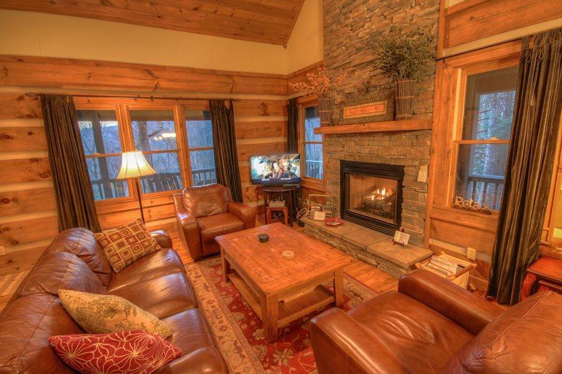 Boulder Falls Retreat Living Room - Boulder Falls Retreat - Boone - rentals