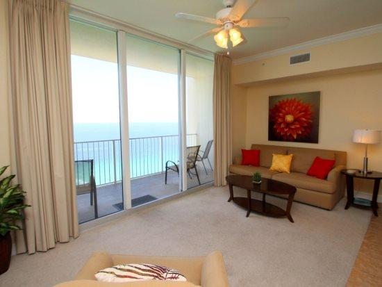 Take in the Spectacular view from our 2 Bedroom THREE Bath on the 26th floor at Tidewater Resort! Free Beach Chair service in 2016 - Image 1 - Laguna Beach - rentals