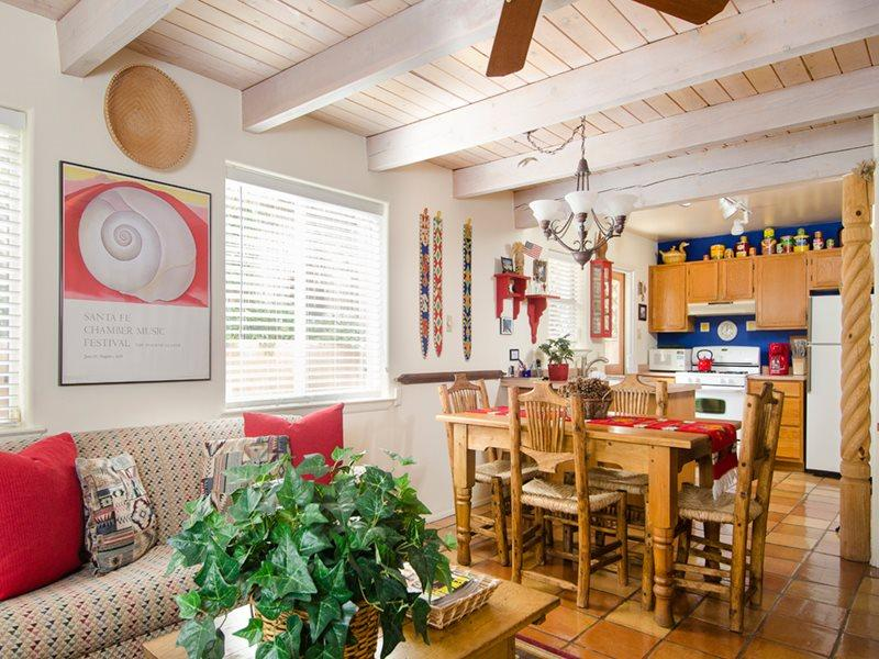 LIvng Room into Kitchen - Colorful Santa Fe - Santa Fe - rentals