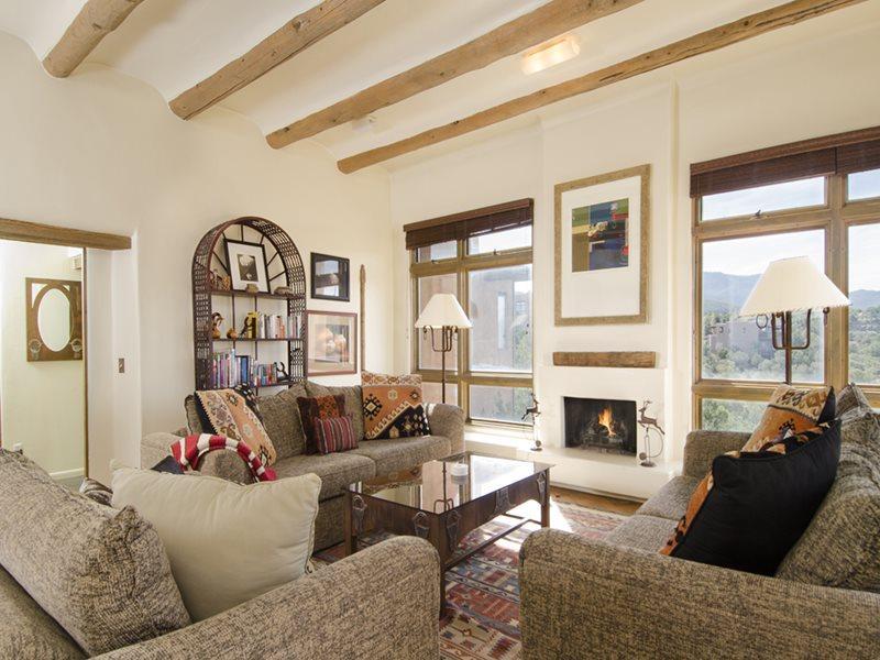 Living Room - Adobe Destinations - 800 East Elegance - Santa Fe - rentals
