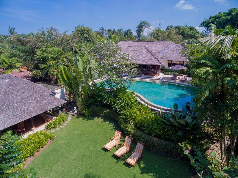 Villa Frangipani, Canggu, Bali, Indonesia - Aerial view of Villa and surrounds - Villa Frangipani Canggu Bali Riverside  4-bdrm lux - Canggu - rentals