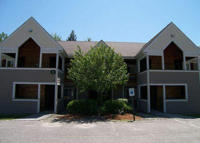 Exterior of Unit in Spring - Forest Ridge 5-8 - Professionally Managed by Loon Reservation Service - Lincoln - rentals