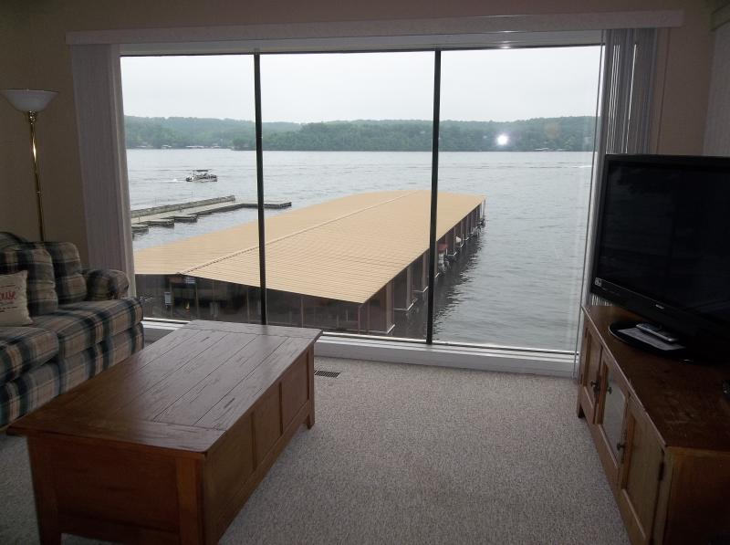 Great view of the main channel from the living room! - Spectacular Lakefront 3 Bd/3 Bath, WIFI - Lake Ozark - rentals