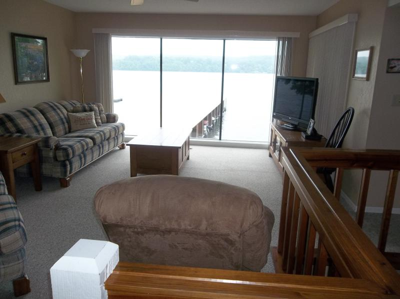 Plenty of comfortable seating and sleeper sofa in the living room - Spectacular Lakefront 3 Bd/3 Bath, WIFI - Lake Ozark - rentals