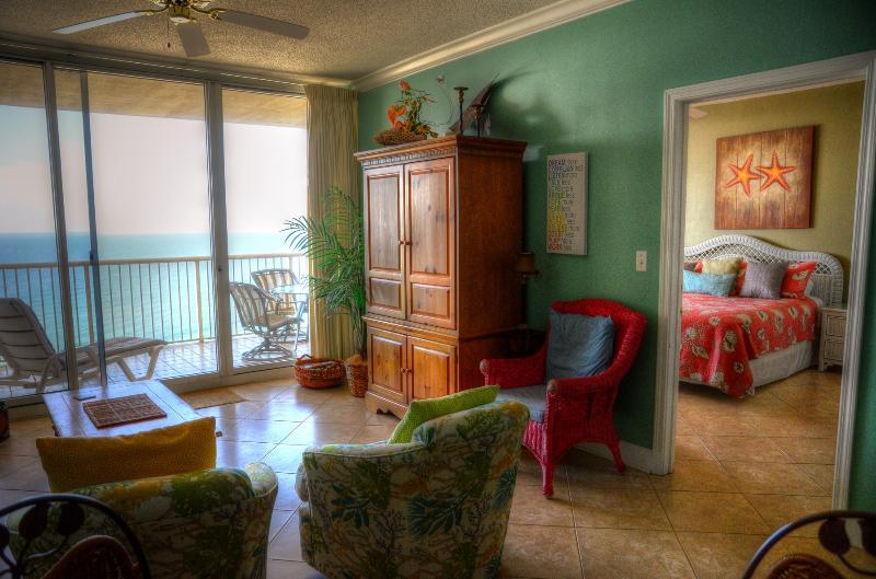 New furnishings June 2015, tile, painting, bedrooms, 3 large screen TVs, sleeper sofa, chairs, VIEWS - Beach Club&Resort; Nana Cabana; sleeps 7, great reviews - Gulf Shores - rentals