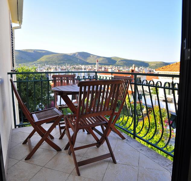 View from the balcony - Charming apartment with a swimming pool - Trogir - rentals