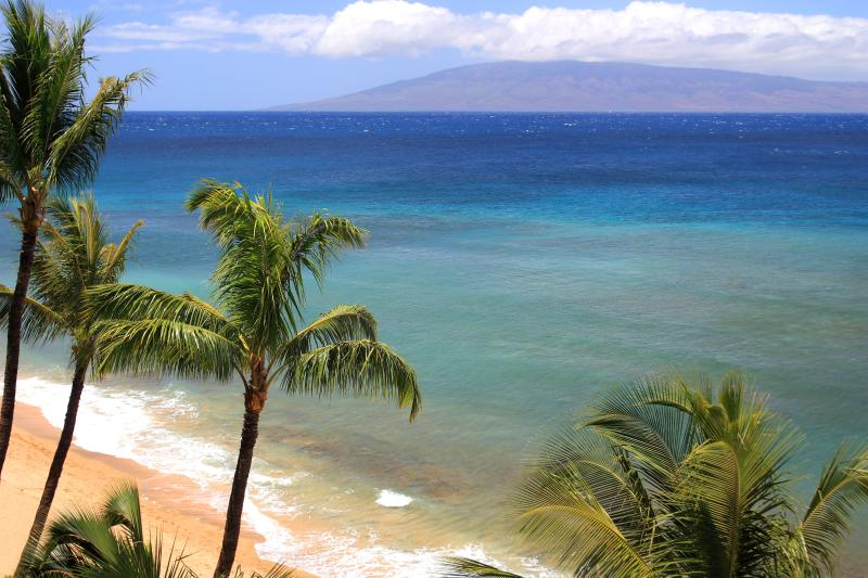 View from Mahana Lanai - Google us at GOMAHANA - Mahana at Kaanapali Oceanfront Studio- Best Views! - Ka'anapali - rentals