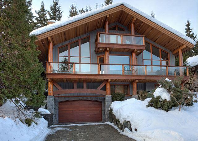Exterior View of Peak View Chalet - Peak View Chalet | Luxury 4 Bedroom, Fireplace, Scenic Views, Private Hot Tub - Whistler - rentals