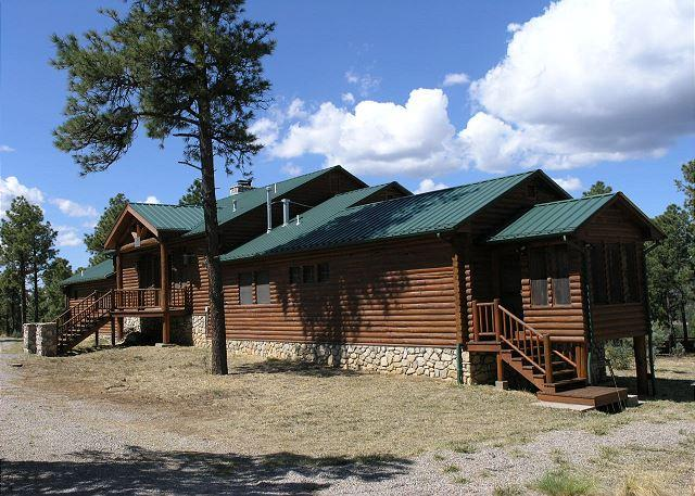 Blue Lake Lodge is a completely secluded log cabin on 10 acres. - Image 1 - Ranchos De Taos - rentals