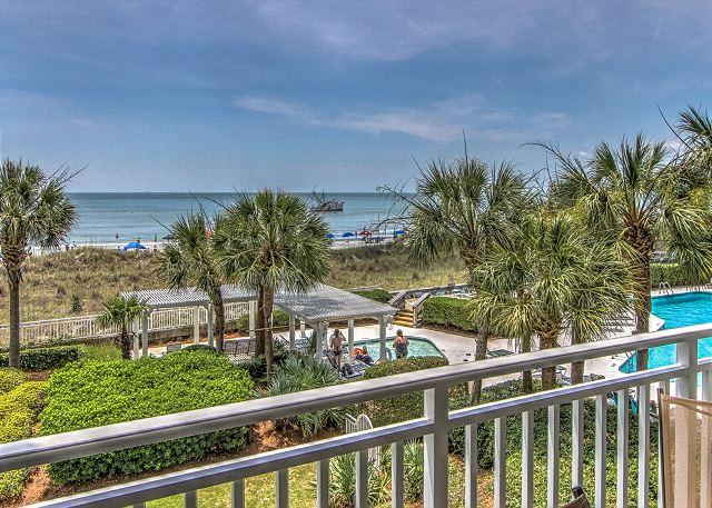 View - 3204 SeaCrest-Beautiful & Direct Oceanfront, 2nd Floor - Hilton Head - rentals