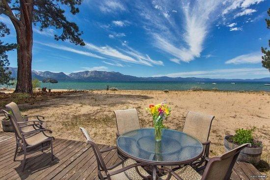 Beach Front- Back deck and Lake View - 3999B- Tahoe Beach Front- Sandy Beach Front Home - South Lake Tahoe - rentals