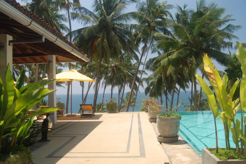 Looking due south across the veranda - The Saffron House - Tangalle - rentals