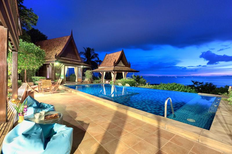Villa Thai Teak at night - stunning views - Villa Thai Teak with amazing Ocean Views - Surat Thani - rentals