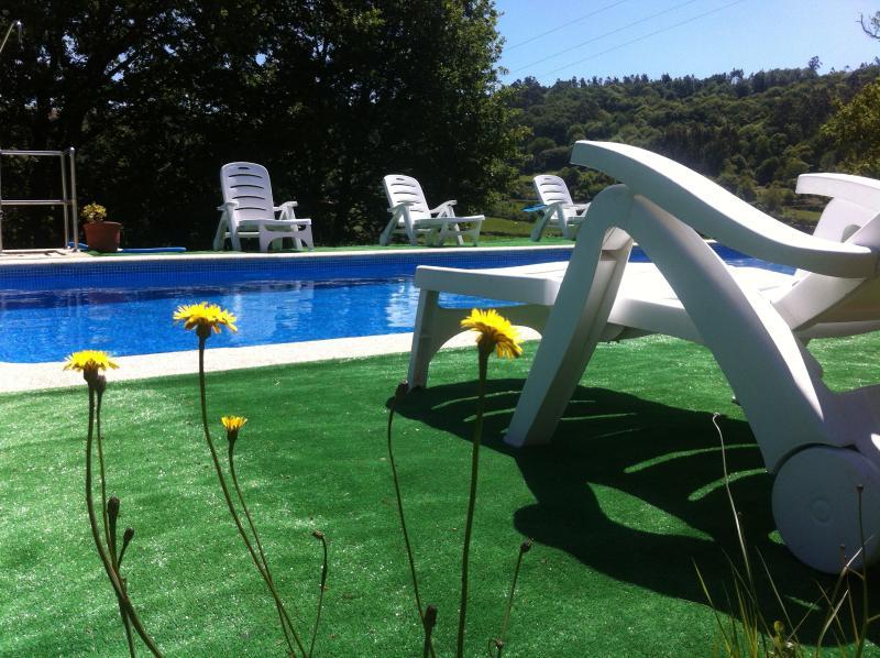 piscina de temporada - Casa Rural O Bergando - Pontevedra Province - rentals