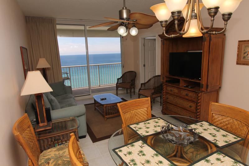 Living Area Overlooking the Gulf - Majestic Beach Resort T2 Unit 1502 - Panama City Beach - rentals
