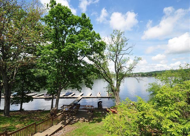 View of Deep Creek Lake - Delightful & Inviting 3 Bedroom Lakefront Townhome in the heart of Deep Creek - McHenry - rentals