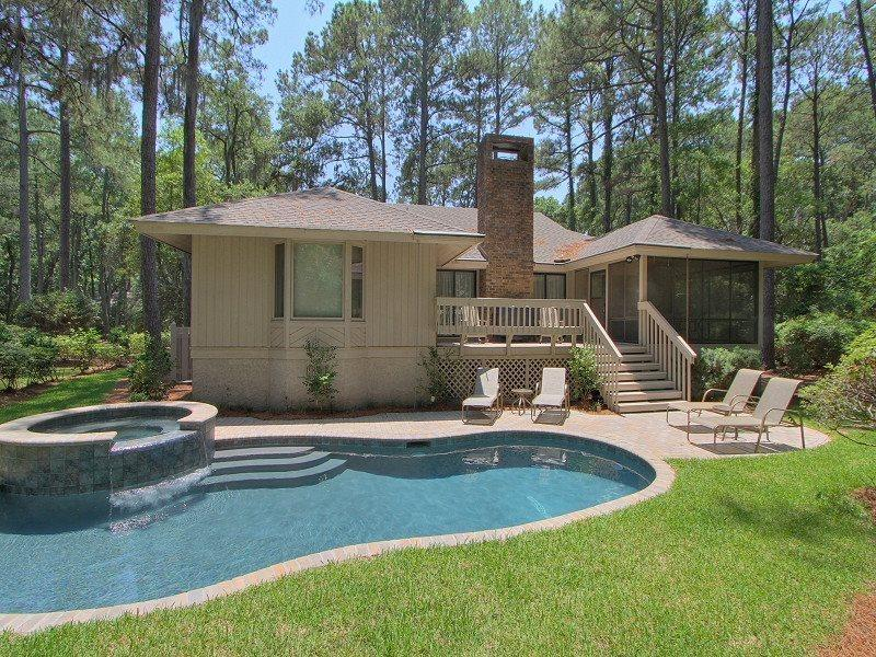 Backyard at 44 Old Military Road - 44 Old Military Road - Hilton Head - rentals