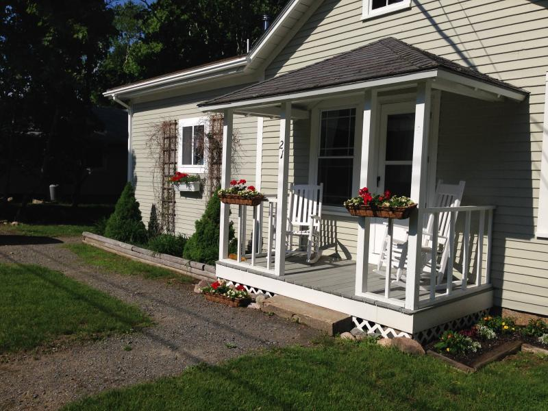 Relax on the front porch in the rocking chairs - Shubert Bungalow - Seal Harbor - rentals
