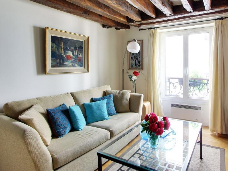Living room - Picardie - Marais central near food market for 4 - Paris - rentals