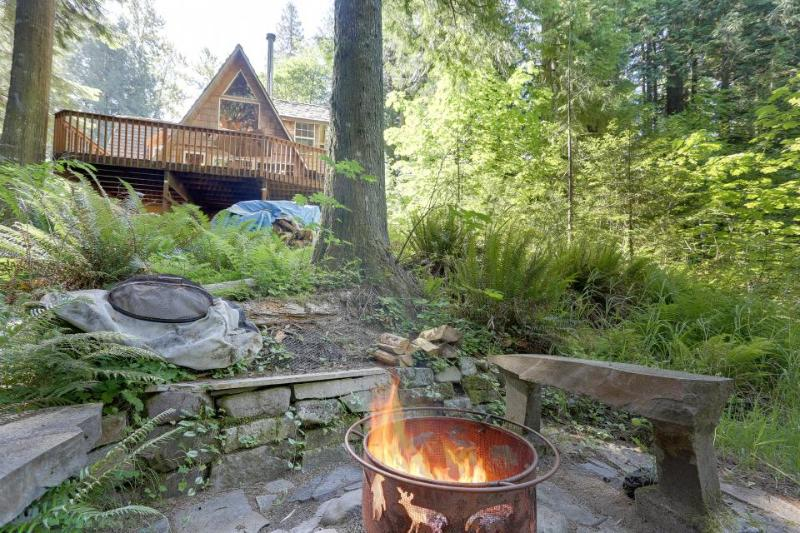 Cozy riverside cabin - warm & homey with jet tub. - Image 1 - Rhododendron - rentals