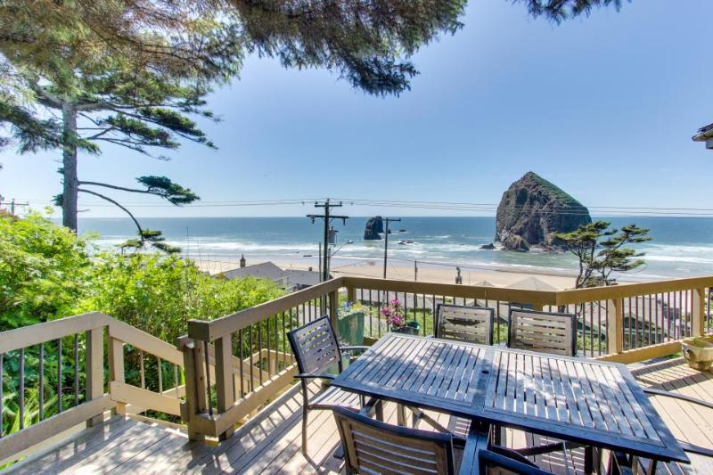 Relax in the hot tub & warm by the fire at this dog-friendly beachfront home! - Image 1 - Cannon Beach - rentals