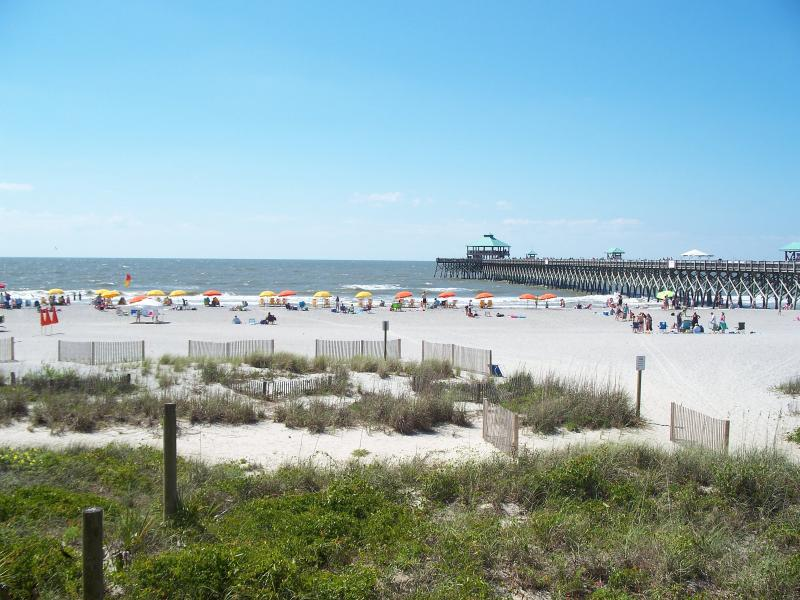 Right View & Pier - All units - Oceanfront Condo - Right on the Beach! - Folly Beach - rentals