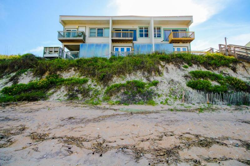 Dog-friendly, oceanfront triplex for 18 with a private beach & gorgeous views! - Image 1 - Saint Augustine - rentals