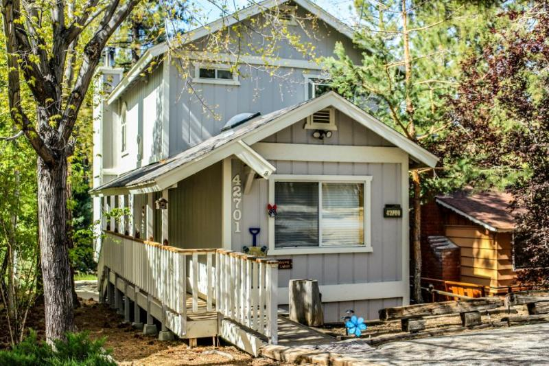 Rustic two-story mountain w/private covered hot tub, wooded surroundings! - Image 1 - Big Bear Lake - rentals