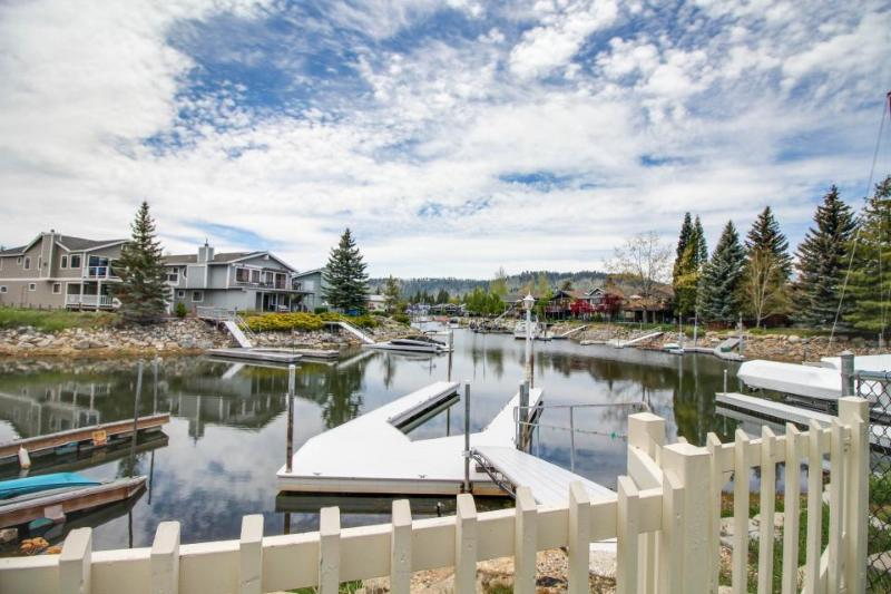 Cozy lakeside Tahoe Keys home with a private hot tub, dock & shared pools! - Image 1 - South Lake Tahoe - rentals