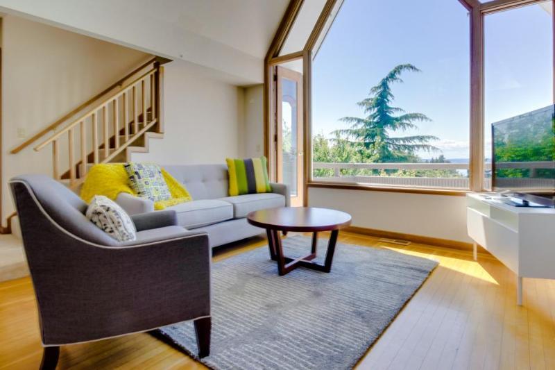 Bright and spacious w/ water views & wrap-around decks! - Image 1 - Seattle - rentals