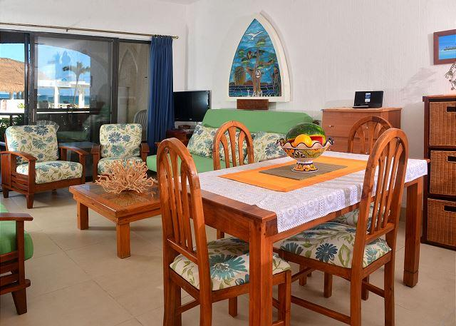 7005 dinning room - Oceanfront with pool 2 bedroom in Xaman Ha (XH7005) - Playa del Carmen - rentals