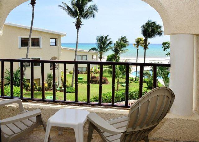 Xaman Ha 7116 Playa del Carmen Terrace  - Oceanfront with pool 1 bedroom in Xaman Ha (7116) - Playa del Carmen - rentals