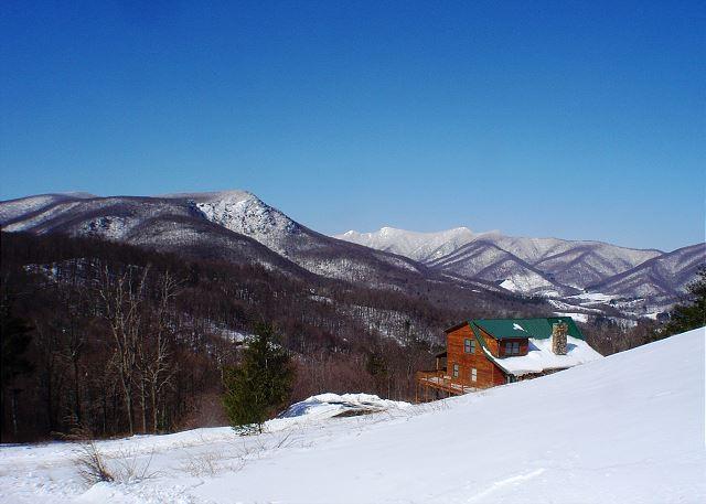 Spacious Cabin W/Long Range Views, Hot Tub, WiFi! - Image 1 - West Jefferson - rentals