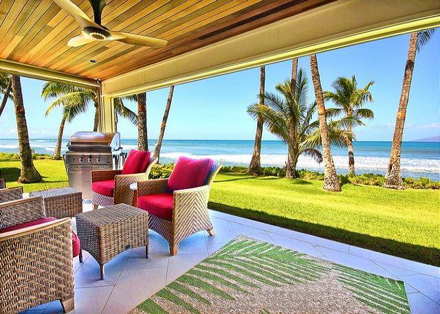 Amazing views from the lanai!! - Easy Accessible Oceanfront Luxury Townhome in Puamana - Lahaina - rentals