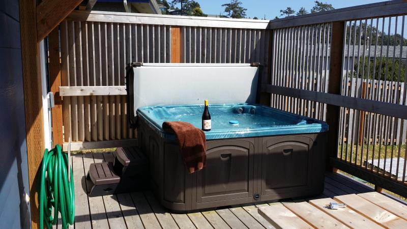 The Sensational Dancing Seahorse Hot Tub with Privacy barrier and ocean view - The Dancing Seahorse - Waldport - rentals
