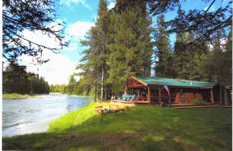Main cabin and deck on Swan River - Sleeps 4 - Spectacular Swan River Retreat - Bigfork - rentals