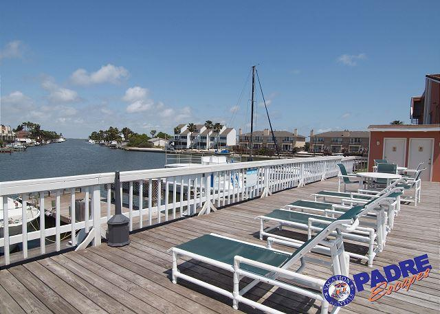 Outdoor pool overlooking canal - The Fisherman's Getaway is recently remodeled condo that is ON THE WATER! - Corpus Christi - rentals