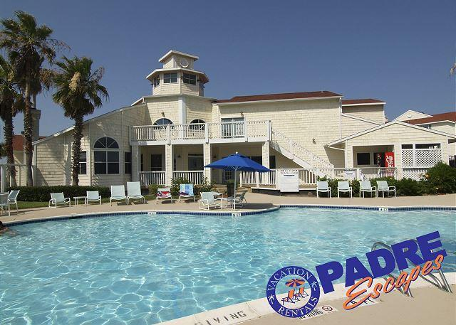 Beach Club pool - Villa by the beach is a recently remodeled Condo close to the Beach! - Corpus Christi - rentals