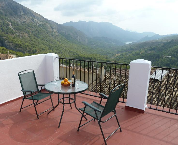 Private Roof Terrace - Abdet Mountain Village Accommodation - Guadalest - rentals