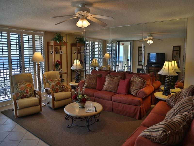 Living room seating - Phoenix VII - 503 Gulf Front - Orange Beach - rentals