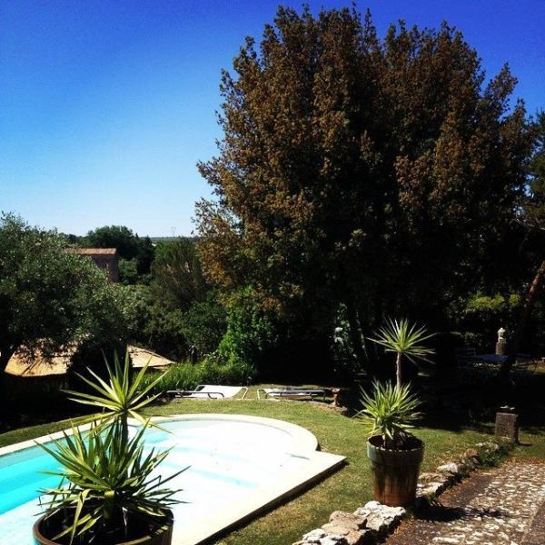 Les Alouettes: 2 rentals between Uzes & the Pont du Gard+ swimmingpool & mediterranean  garden... - Uzes & Pont du Gard : 2 Gites +swimmingpool+river - Collias - rentals