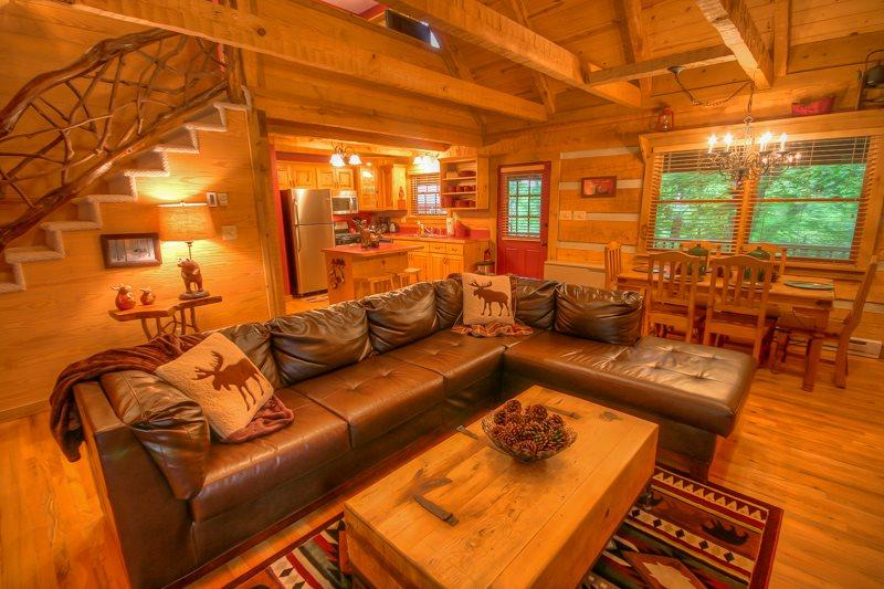 2BR Cabin, Sleeps 8, Creek and Fishing Lake with Rainbow Trout, Central to Attractions, Stone Wood-Burning Fireplace, Wii Game Console, Outdoor Fire Circle - Image 1 - Seven Devils - rentals