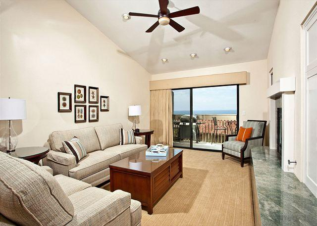Living room with ocean view - 2 Bedroom, 2 Bathroom Vacation Rental in Solana Beach - (SBTC336) - Solana Beach - rentals