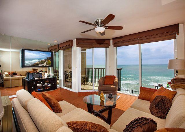Gorgeous oceanfront living room - 1 Bedroom, 1 Bathroom Vacation Rental in Solana Beach - (DMST38) - Solana Beach - rentals