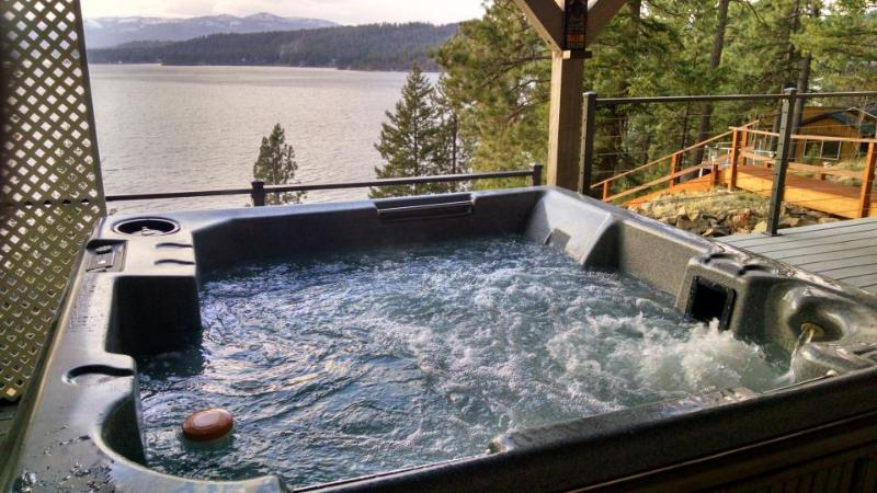 Scenic lakefront retreat w/ three decks, a hot tub & a private 48-foot dock! - Image 1 - Harrison - rentals