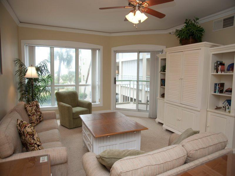 Living Room with Balcony Access at 2115 Windsor II - 2115 Windsor II - Hilton Head - rentals